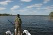 mit dem Boot auf dem See