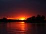 rote Sonne in Norwegen