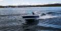 Angelboot in Fahrt