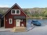 Efjord Sjøhus Ferienhaus 4: Blick Richtung Meer