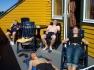 Ferienappartement Feste Brygge Nr. 2 chillen auf der Terrasse