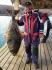 28kg Heilbutt beim Angeln aus Frovåg