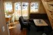 Gardsøya Ferienhaus Nr. 3: offener Wohnbereich mit tollem Ausblick