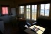 Gardsøya Ferienhaus Nr. 6: offener Wohnbereich mit Fjordblick