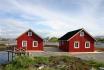 Gardsøya Ferienhaus Nr. 6: Blick vom Meer aus