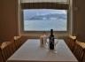 aus der Küche toller Ausblick auf den Fjord