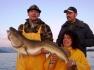 Angler mit schönem Nordmeerdorsch