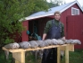 Filetieren der gefangenen Steinbeisser