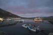 Bootssteg mit Blick über den Fjord