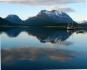 Berge und Fjordlandschaft