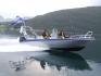 Boot in Fahrt in Norwegen