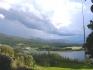 Blick aus der Unterkunft über den Fjord