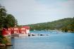 Blick auf die Ferienhäuser in Møst