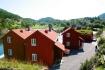 Blick über die Ferienhäuser in Møst