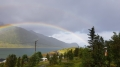 Regenbogen über Nuvsvag Loppa Havfiske