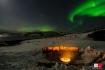 traumhaftes Polarlicht über Buvik Brygge