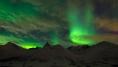 grüne Farben: das Nordlicht