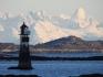 schneebedeckte Berge in Steigen - Nordskot