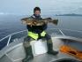 Angler mit Dorsch