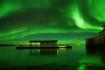 Nordlicht in Nordskot Brygge
