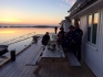 toller Blick ueber den Vestfjord in Nordskot Brygge