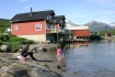 Blick auf die beiden Ferienhäuser in Ofoten Panorama