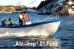 die bekannten Alujeepboote