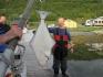 Heilbuttangeln in Nordnorwegen: glücklicher Urlauber