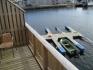 Rørvik Rorbuer 55qm Appartement: Blick zu den Angelbooten