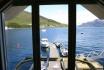 Sørheim Brygge Ferienhaus: Blick auf den Fjord und Bootssteg