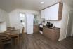 Sørheim Brygge kleine Ferienappartement: offener heller Wohnbereich