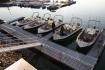 Angelboote Steigen Brygge