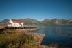 Mefjord Brygge: herrlicher Blick über den Fjord