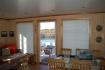 Vega Rorbuferie Haus Nr. 1: Terrasse mit Blick nach draussen