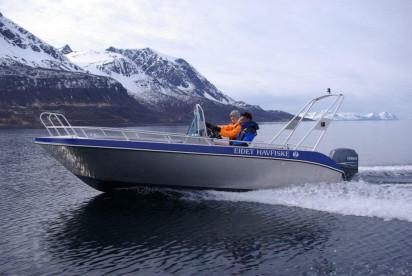 Aluboote in Eidet Havfiske für Angeltouren zu Steinbeisser, Rotbarsch und Heilbutt