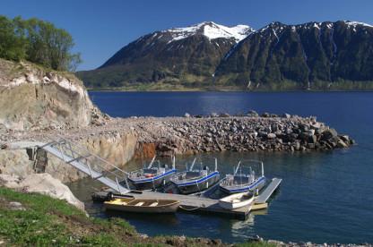 die Aluboote mit 50 PS in Elgsnes Gård