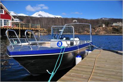 ALuboot mit 50 PS in Frovåg Havfiske