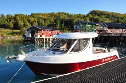 genügend Power für die Angeltouren - ein schönes Kabinenboot