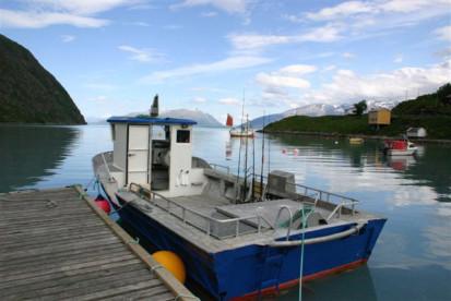 mit diesem Angelboot lassen sich auch weite Touren unternehmen
