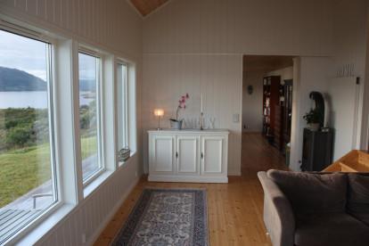 toller Blick über den Fjord vom Wohnzimmer aus
