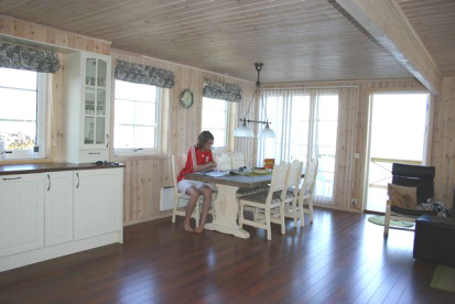 großzügig und hochwertig ausgestattete Wohnküche in Ofoten Panorama