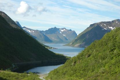 Natur pur: Fjordlandschaft auf Senja