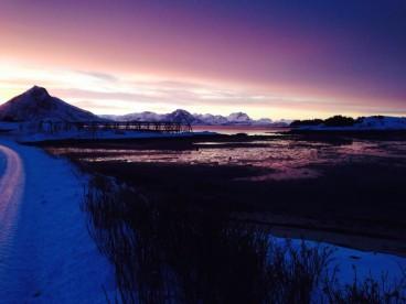 tolle Farbenspiele in Norwegens Winter