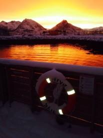 Sonnenuntergang und Winterstimmung in Bolga