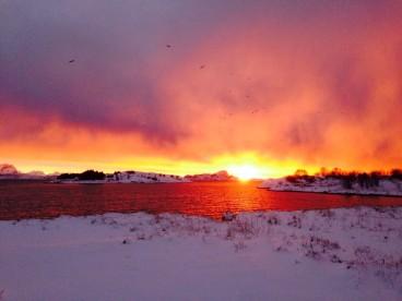 toller Sonnenuntergang in Bolga