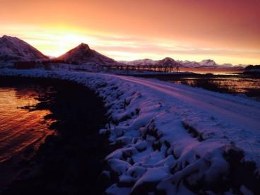 Schnee in Bolga: Winterurlaub in Norwegen