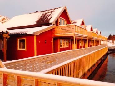 Bolgas Ferienhäuser in Schnee gehüllt