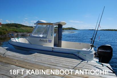 perfekt für drei Angler: Kabineboot Antioche