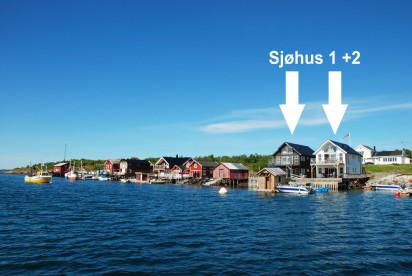 Sjøhus 1 und 2 direkt am Meer mit hohem Standard