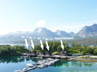 fantastische Anglerunterkünfte in Efjord